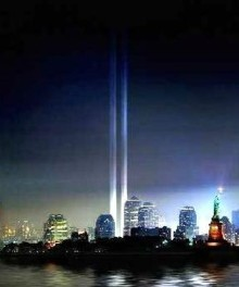 TRIBUTE IN LIGHT - TOWERS OF LIGHT           - pix courtesy starz